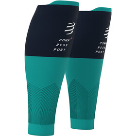 Compressport R2V2 Manchons de compression pour mollets, nile blue